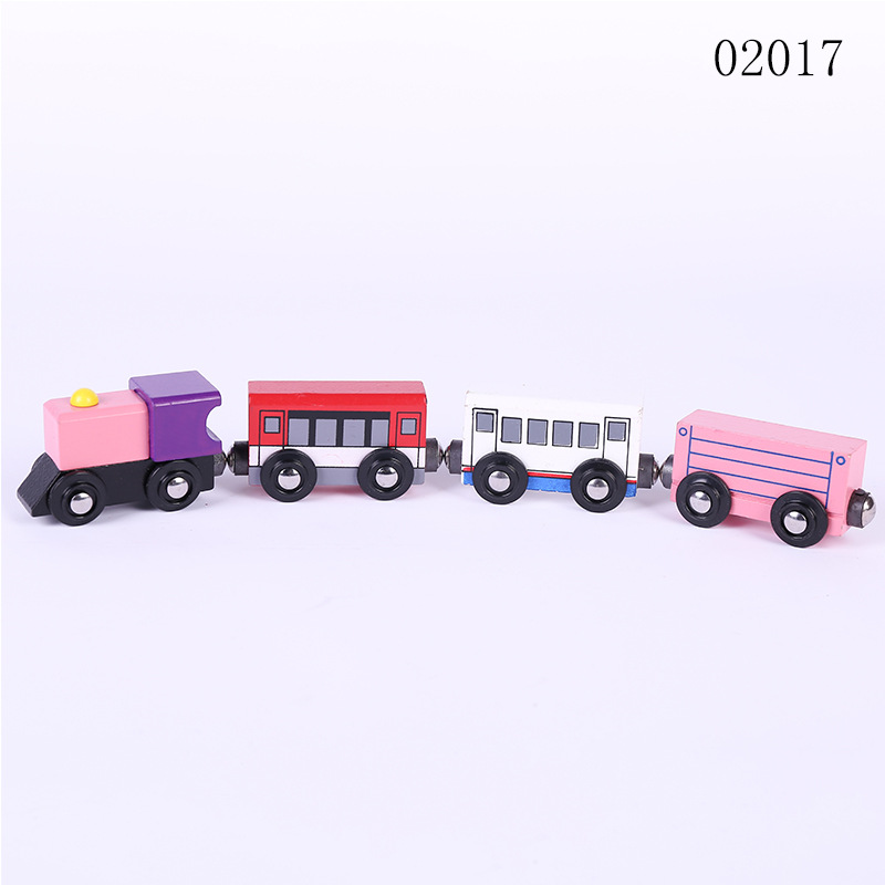 New Magnetic Wooden Train  Set wooden Toy Train Set For Kids