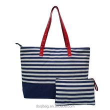 Canvas material Lady Tote bag one adjustable strapvwith good quality