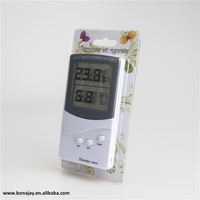 Digital Indoor Thermometer Hygrometer Clock Temperature Humidity Meter household