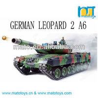 1:16 2.4GHz rc German Leopard 2 A6 Military Tank Toys With Smoke And Sound Function
