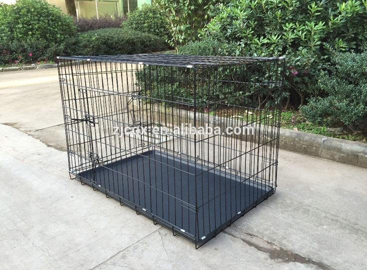 Black Power Coating Metal Wire Dog Cage House Dog Kennel