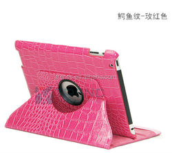 alibaba express 360 degree stand crocodile leather case for ipad 3
