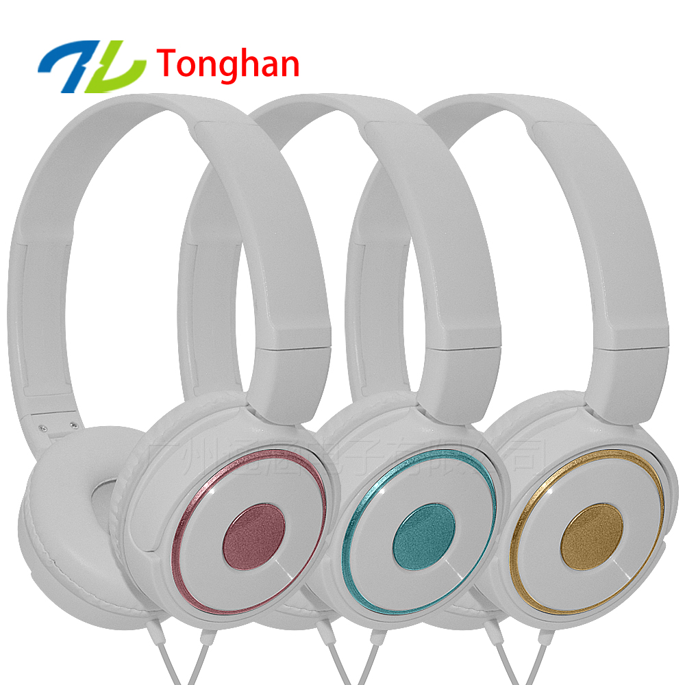 New model mini headphone plastic headband overear headphones custom printed logo head phones