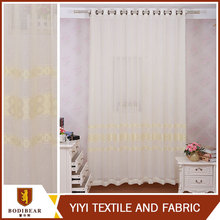 New style Italian style eight and crossed stripe embroidery curtain in white and yellow