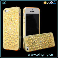 luxury hand feeling soft bling diamond crystal case cover for iphone 5 , mobile phone case for iphone 5 Se