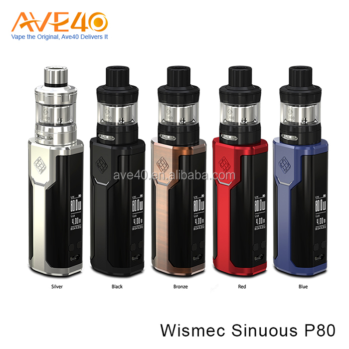 NEW ARRIVAL!!! 80W Wismec SINUOUS P80 with ELABO Mini Kit,0.96 inch Screen,More Convinent
