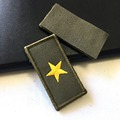 high quality machine custom uniform embroidery military star collar badge
