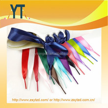 Cheap Wholesale Cute Ribbon Shoe Laces, Silks And Satin Shoelaces, Sport Shoelace Bootlaces Candy Color Flat Laces