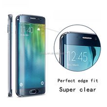 100% Full Cover Curved Edge Ultra Clear Screen Protector 4H anti-shock Film For Samsung Galaxy S6 Edge
