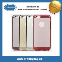 Rock brand electroplated shining TPU for iphone 6s case