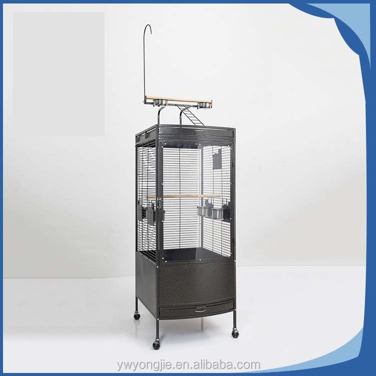 Hot Sale Folding Metal Pet Bird Crate , Big Parrot Cage
