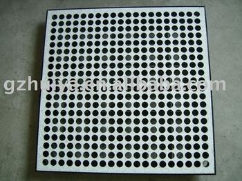 Airflow acess floor buy airflow flooring perforated floor clean room flooring product on - Intermediate floor casting ...