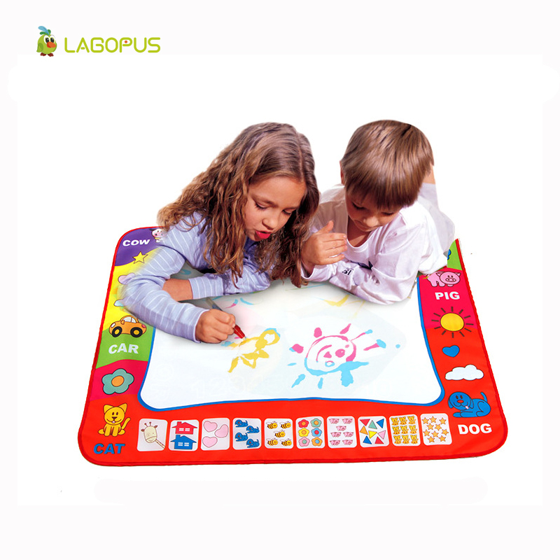 2017 New 80X60cm Children baby <strong>toy</strong> Water Drawing Painting Writing Mat Board & Magic Pen Doodle <strong>Toy</strong> Gift Learning Drawing <strong>Toys</strong>