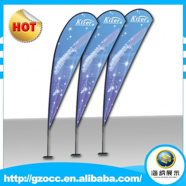 custom factory High quality promotion flying teardrop banner flags printing for <strong>advertising</strong>