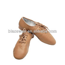 JS21 genuine leather jazz shoes in tan color wholesale jazz shoe