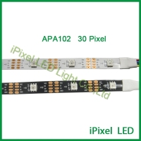 controller +power supply 5v + 30pixels/m apa102c led strip, computer controlled