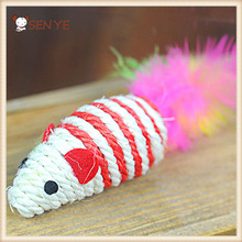 Customized Motion-activated Laser Mouse Shape Sisal Rope Scratcher Cat Toy