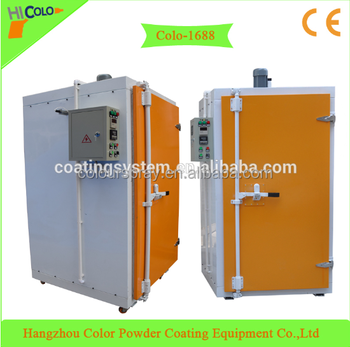 manual powder paint coating curing oven