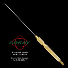 Liposuction Cannula Set/Liposuction Cannulas with handle luer lock handle and simple handle
