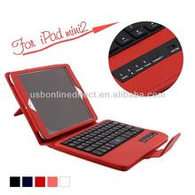 2014 new design detachable bluetooth keyboard case with stand for ipad mini 2 mini2
