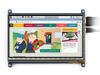 7inch HDMI LCD Raspberry Pi 1024*600 Capacitive Touch Screen Display Beaglebone Black Banana Pi/Pro Supports Various System