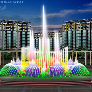 Large water dancing speakers with program control system dancing water fountains