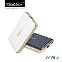 MAXCO 5000mah capacity Slim design mobile power bank polymer battery charger best protable power pack