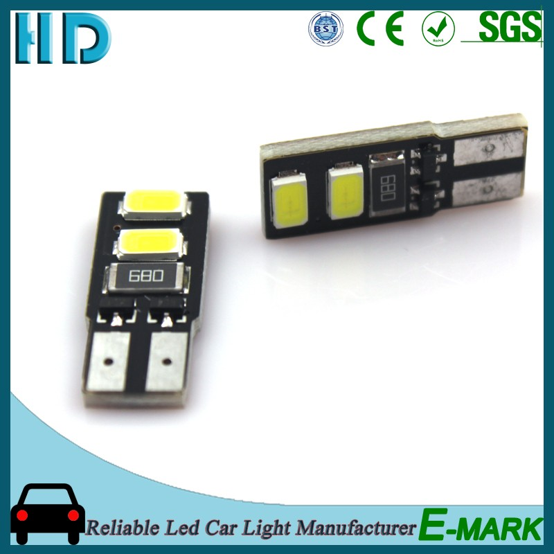 China supplier 194 168 W5W T10 PCB 4SMD 5630 5730 12V CANBUS led interior light for all cars