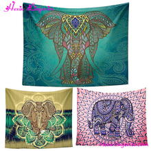 2017 Wholesale Indian Bohemian Gobelin Elephant Mandala Wall Tapestry