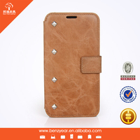 Leather wallet mobile phone case cover for samsung s4 case