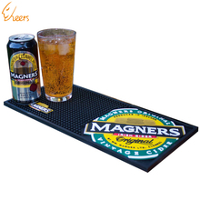 Logo branded custom beer spill soft pvc rubber bar mat
