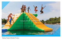 Giant water sport inflatable water rock climbing wall