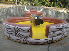 Machine Rodeo Ride Inflatable Mechanical Bull For Sale With Mattress