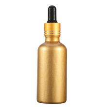E liquid 30Ml gold Essential Oil Dropper Glass Bottle For Cosmetic Packaging