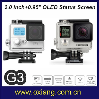 Similar Go pro Hero4 1080P HD Action Camera Waterproof 30M 170 Wide Angle Sport Camera/Aerial Aircraf