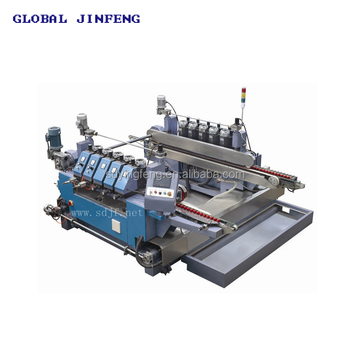 Glass Straight line round double edging grinding polishing machine supplier