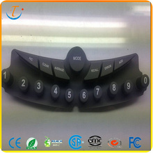 Waterproof silicone rubber buttons keypad safe