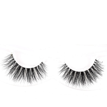 Customized package clear band 3d mink false lashes