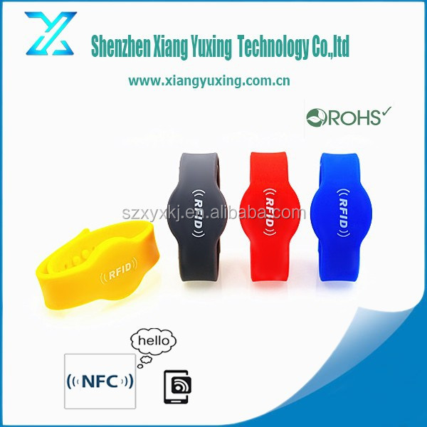 13.56mhz waterproof Ultralight c swimming Adjustable custom logo printing RFID silicone wristbands for racing timing