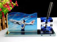 Crystal photo frame Pen Holder Kit Desktop gift MH-B0299
