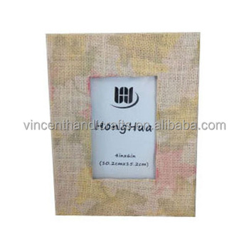 Oil paint hotel decoration pretty fabric photo frame for birthday gift