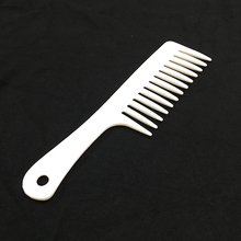 25mm White Large Handle Plastic Wide Tooth Hair Comb