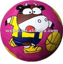 Printed basketball/2014 rubber cheaper printed basketball