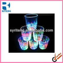 mini flasing LED cup LOGO printed plastic cup advertising LED cup