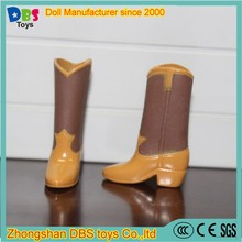 (YW-AS60118) Zhongshan DBS toys brown10'' high heel boot doll shoe wholesale
