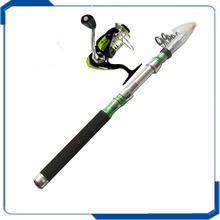 High carbon model portable travel telescopic fishing rod and reel combo
