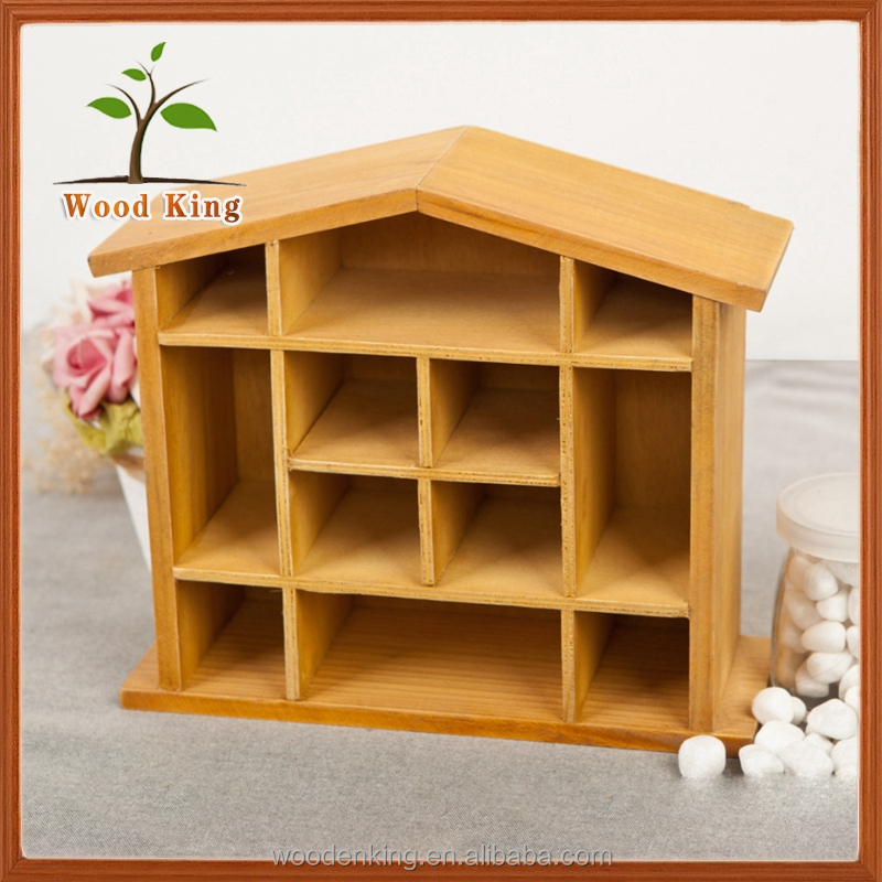 Factory Direct Sale No Logo Zakka Japanese Solid Wood House Wall Hanging Shelf Receive Ark Home Bar Display Wood Cabinet