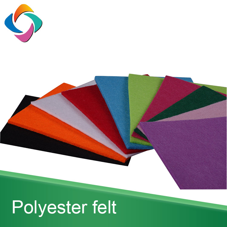 China factory Colorful 1mm-5mm 100% polyester needle punched nonwoven fabric thick felt sheet