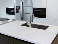 Many color selection polished quartz countertop for kitchen