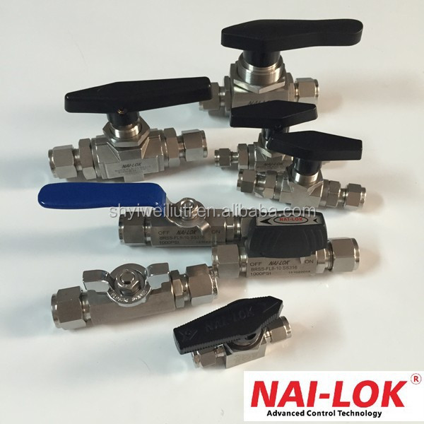 HOT sales SS 1/4 inch mini natural gas ball valve picture